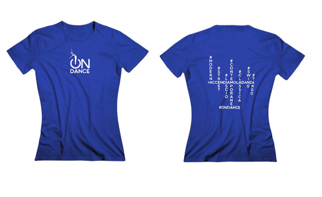 quality design a357d 1c80a T-shirt donna 2019 - blu